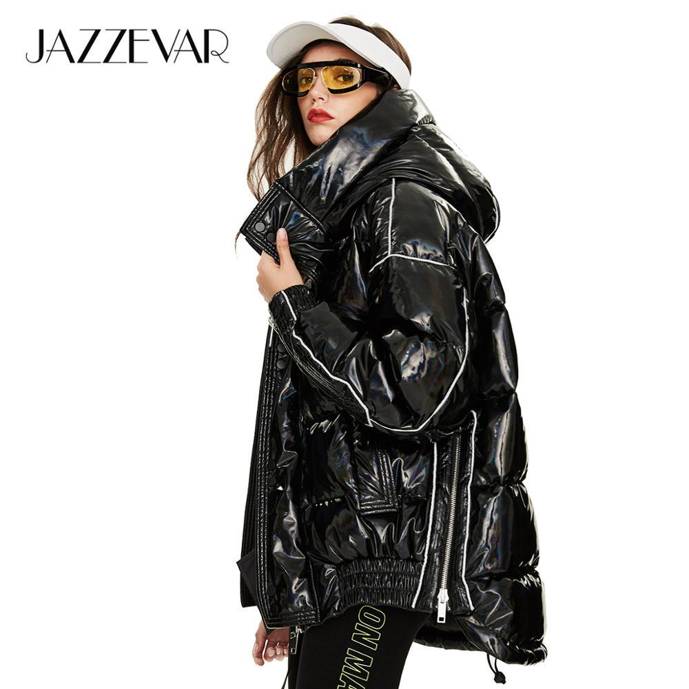 Jazzevar 2019 inverno nova chegada para baixo jaqueta feminina roupas soltas outerwear qualidade de algodão grosso com um capuz casaco de inverno feminino y