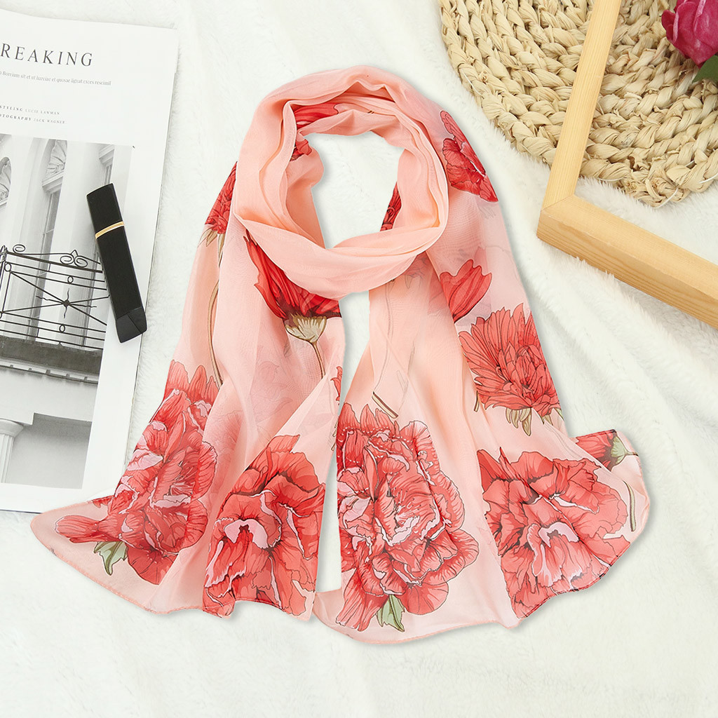 New Women Ladies Fashion Butterfly Flower Large Summer Spring Scarf Wrap Stole