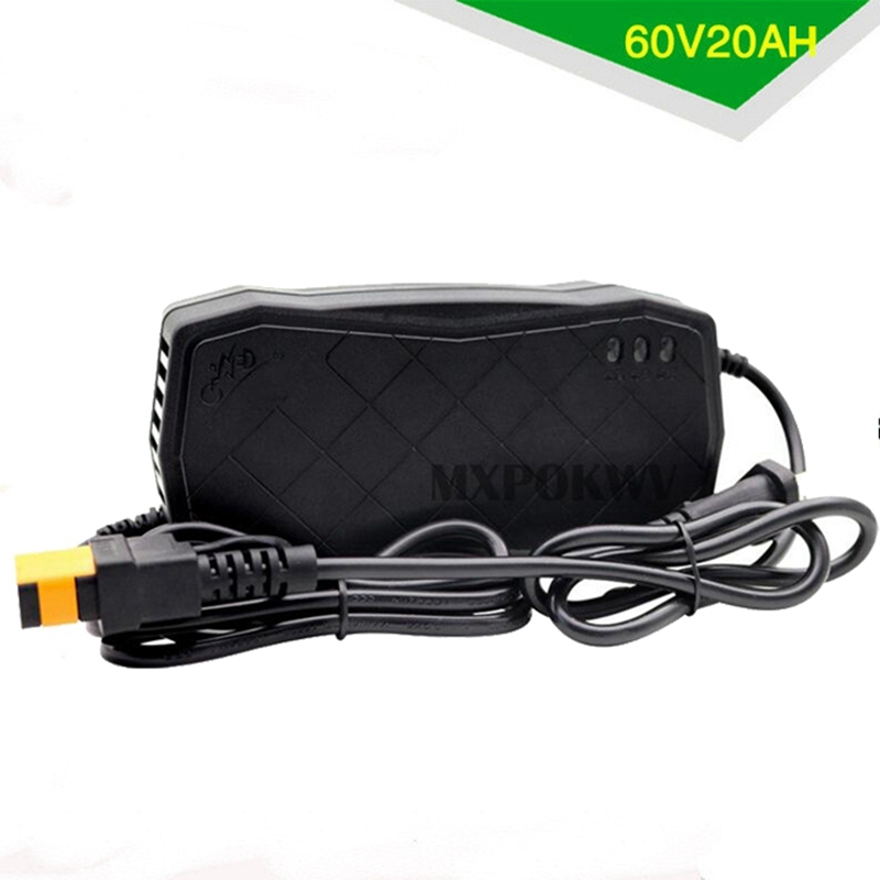 60V 20AH Lead Acid Battery Charger Adapter For Electric Bike Scooters US plug