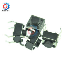 100pcs 6*6*5MM Tactile Drukknop 4 pins Micro Schakelaar 4-Pin DIP momentary Tact Switch Through-Hole(China)