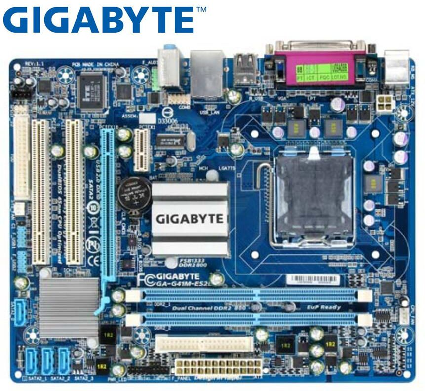 Gigabyte GA-G41M-ES2L Original Desktop Motherboard LGA 775 DDR2 G41M-ES2L G41 Micro ATX Board Mainboard