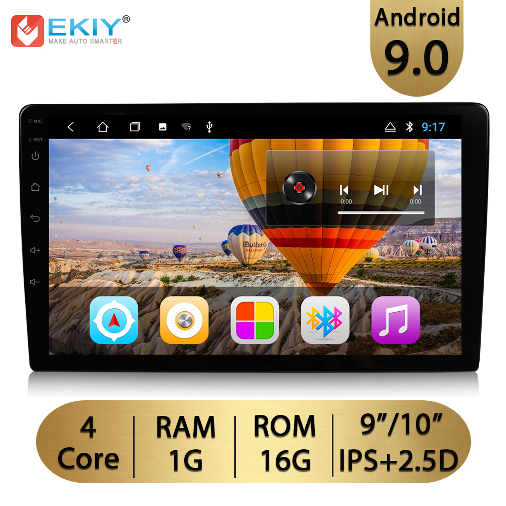 EKIY 9'' /<font><b>10.1</b></font>'' 2.5D <font><b>Android</b></font> 9.0 <font><b>Universal</b></font> 2 Din GPS Navi Car <font><b>Radio</b></font> Multimedia Player Wifi Auto Stereo Audio Video MP5 Player image