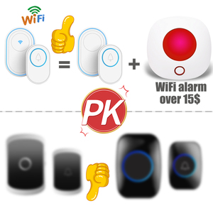 Image 5 - Wifi 초인종 경보 시스템 지능형 무선 초인종 스트로브 Tuyasmart app 58 사운드 호환 433MHz 무선 감지기