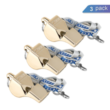 3 Pcs Outdoor Whistles with Lanyards Referee Sports Soccer Football Basketball Metal Tool