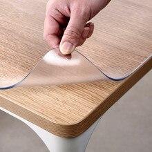 גבוהה כיתה חסר ריח רך זכוכית פלסטיק PVC עמיד למים מפת שולחן 1.5mm לשפשף החלקה שולחן מחצלת המפלגה שולחן קישוט אישית