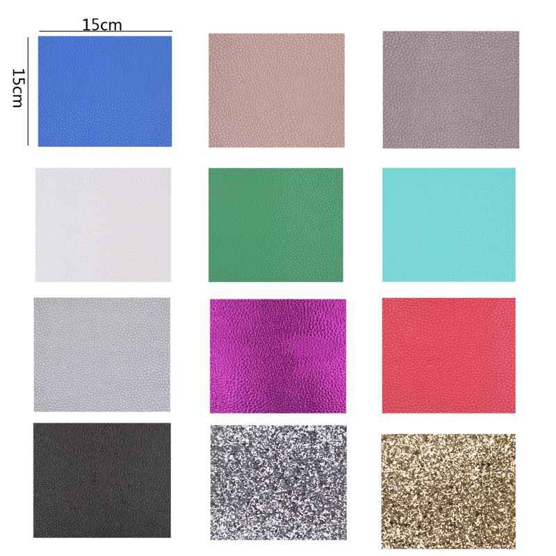 12Pcs Faux Leather Sheets Handmade PU Leather Earrings Jewelry Making Large Kit T4MD