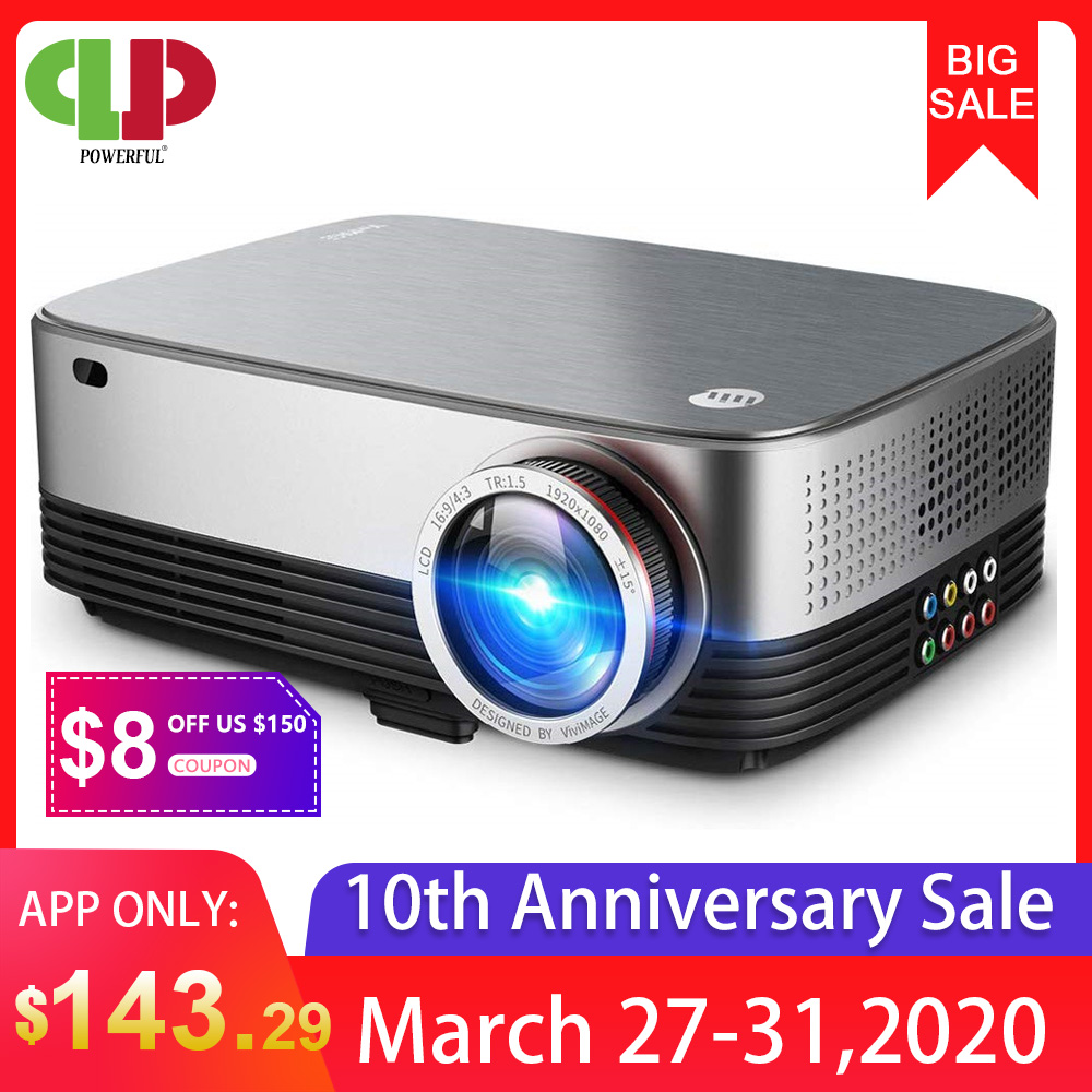 POWERFUL LED Projector SV-428 Support 1080p 3800 Lumens Optional Android (1G+8G) WIFI Bluetooth For Home Cinema Video Beamer
