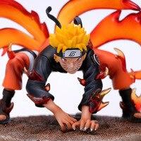 New Anime 20CM bijuu Uzumaki Naruto Figure Shippuden LS GK Ninetales naruto Kurama Action Figure Model Toys Doll figura Gift B19
