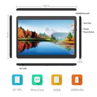 7 android 4 ANRY 10 inch 4G Phablet Android Tablet 7.0 MTK8723 Dual Cameral 8 Core 4 GB 64GB ROM Dual SIM With Bluetooth Keyboad and mouse (4)