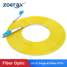 Zoerax LC LC Simplex Single-mode Fiber Optic Patch Cable UPC SM 2.0mm 3.0mm 9/125um FTTH Optical Fiber Patch Cord Cable Jumper