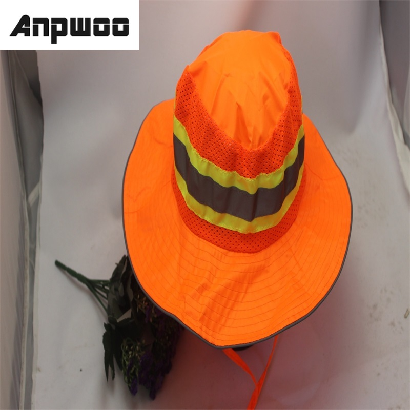 Hot Sale Adjustable Outdoor Reflective Safety Hat Sun Protection Shade Hat Workplace Safety Helmet Fluorescein Fishers Hat