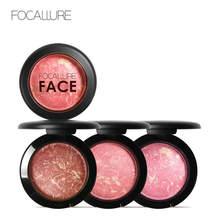 Focallure 6 cor blush rosto maquiagem bronzer suave suave mineralize maquiagem blush profissional rosto maquiagem blush em pó maquiar