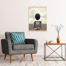 DIY Magnetische Poster Aufhänger Teak Holz Foto Rahmen Bild Leinwand Hängen Wand Kunst Haushalt Dekoration Handwerk Liefert