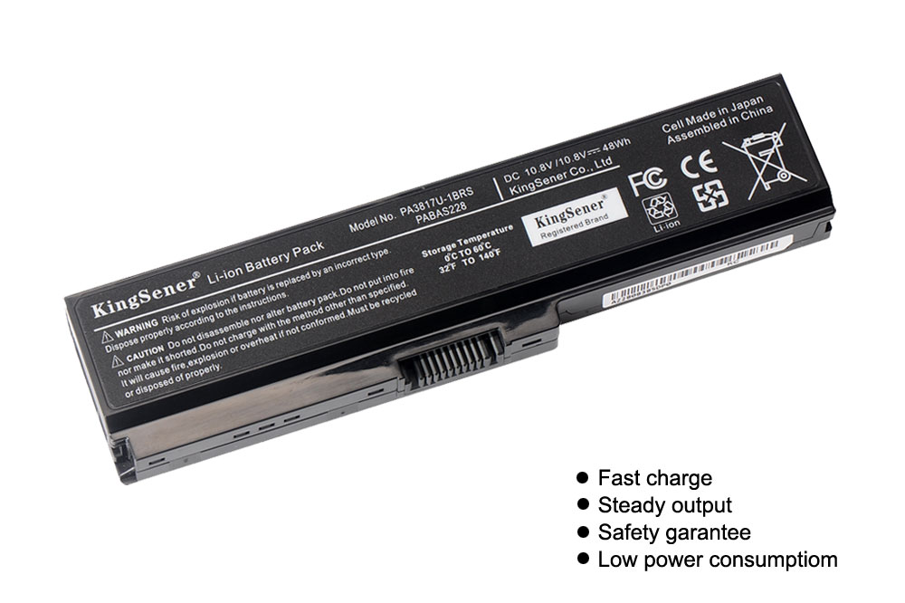 KingSener PA3817U 1BRS PA3817U Battery For Toshiba Satellite A660 C640 C600 C650 C655 C660 L510 L630 L640 L650 L670 L770 PA3818U in Laptop Batteries from Computer Office