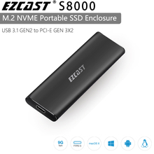 EZCAST NVME M.2 case  M.2 to USB Type C 3.1 SSD Adapter for NVME SATA M KEY  M/B Key Pcie Nvme m.2 ssd Enclosure
