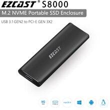 EZCAST NVME M.2 case M.2 to rodzaj USB C 3.1 Adapter SSD dla NVME SATA M klucz M/B klucz Pcie Nvme m.2 obudowa ssd