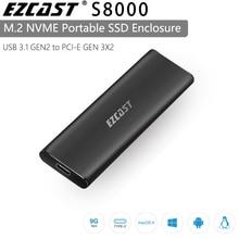 EZCAST NVME M.2 caso M.2 a USB Tipo C 3.1 SSD Adattatore per NVME SATA TASTO M M/B chiave Nvme Pcie m.2 ssd Enclosure