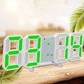1 * светодиодный Большой Цифровой настенный будильник Современный 3D 12/24 часовой дисплей 2019 новый модный термометр Пробуждение