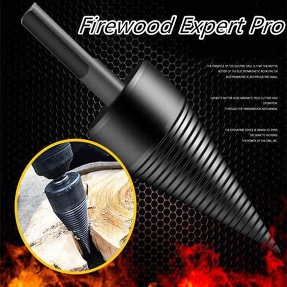 Weichai Drill Bit Chop Wood Splitting Tool Splitting Cone Log Splitters Wood Breaking Machine Wood Breaker Firewood Chopper
