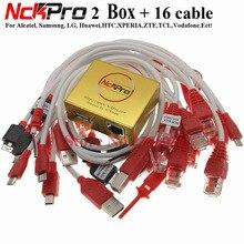 Новейший оригинальный NCK PRO BOX NCK Pro 2 box ( NCK BOX + UMT BOX ) 2 в 1 + 16 кабелей, 2020