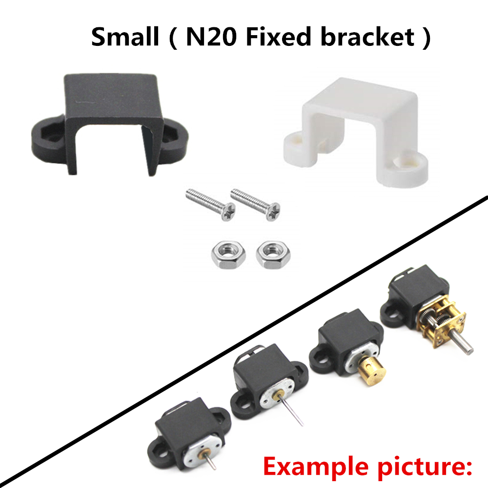 2pcs Motor Holder Mounting Site For N20 Micro Mini DC Motor DIY Parts Screws