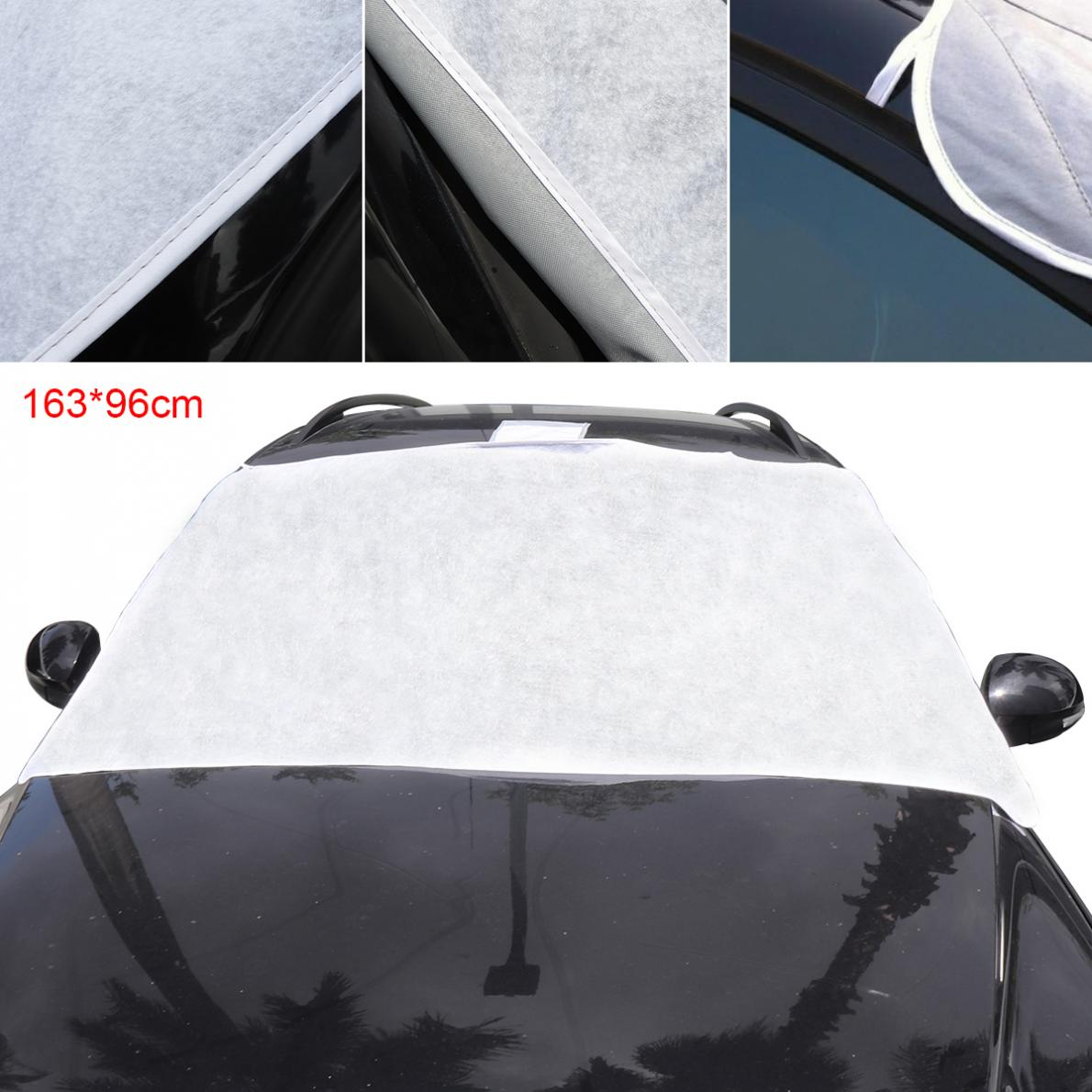 Universal Thick Front Windshield Peva Cotton Ice/Snow/Frost Protector Car Clothing Cover with Two Bandage + Five Magnets|Car Covers| |  - title=