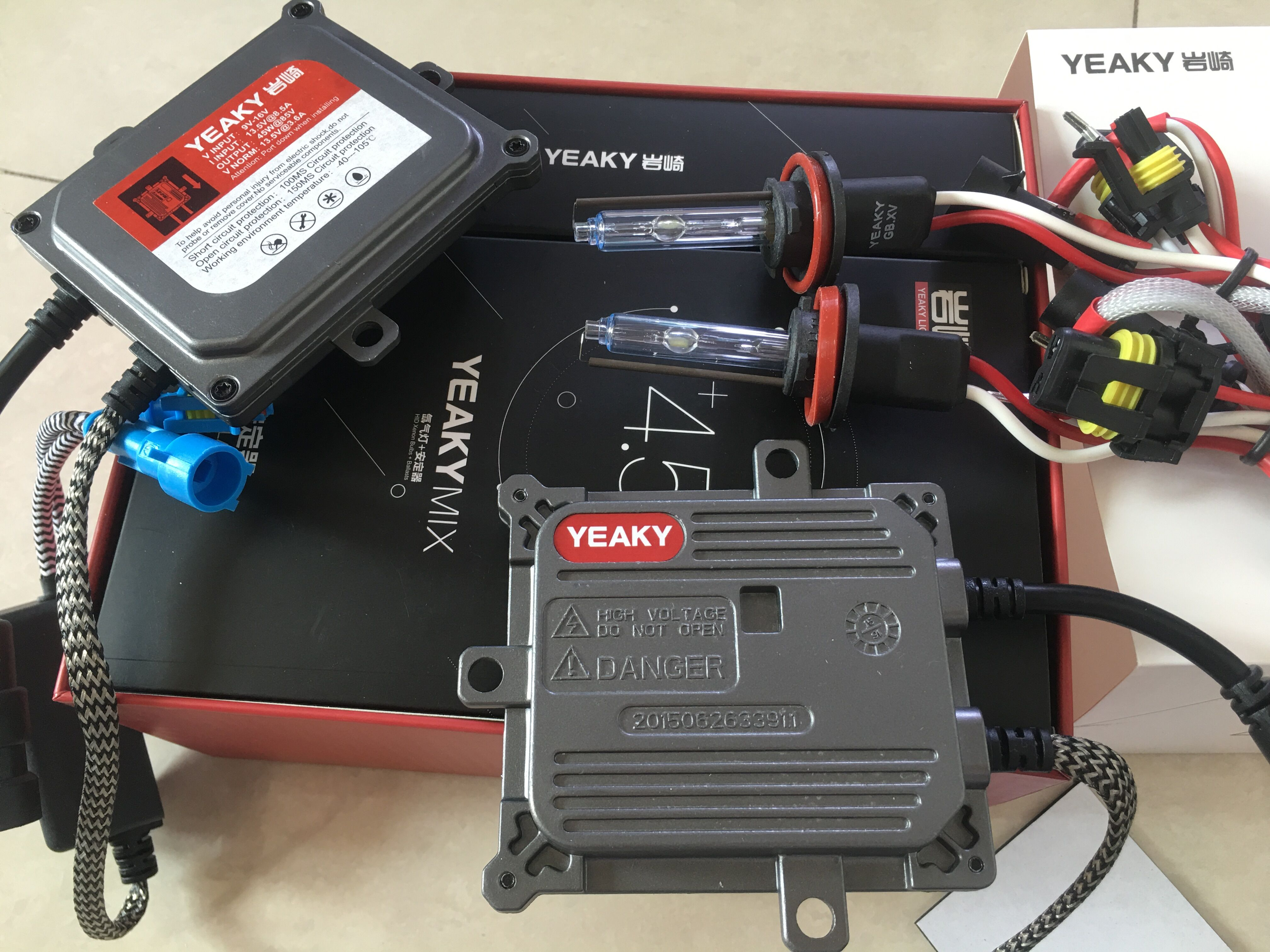 Оригинальный 45 Вт Yeaky Xenon комплект H1 H3 HB3 HB4 H11 Быстрый Яркий 5500 к 45 Вт Yeaky фара Лампа AC 45 Вт Yeaky HID балласт комплект ксенон H7