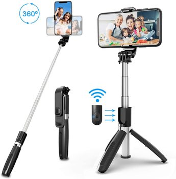 Wireless bluetooth Selfie Stick Extendable Tripod Foldable Monopods Universal selfie stick tripod for iphone Camera Smartphones