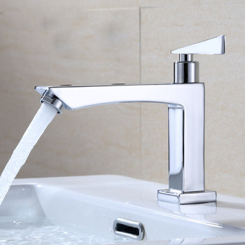 Bathroom Faucet Zinc Alloy Basin Deck Mounted Sink Single Cold Handle Tap Corrosion Resistance Taps Freeship