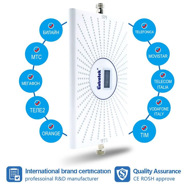Усилитель сигнала Lintratek 2G 3g 4G 900 МГц GSM LTE DCS 4g WCDMA 900 1800 2100, комплект усилителя сотового сигнала 70 дБ AGC 6