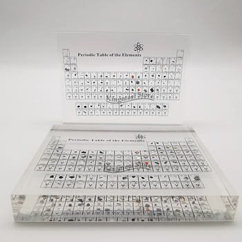 Periodic Table of Elements Acrylic Signboard Crystal Element Learning Display block,periodic products