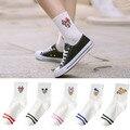 5 парт/лот женские носки в Корейском стиле милые носки с мультяшными животными и мышками хлопковые милые белые длинные носки повседневные В...