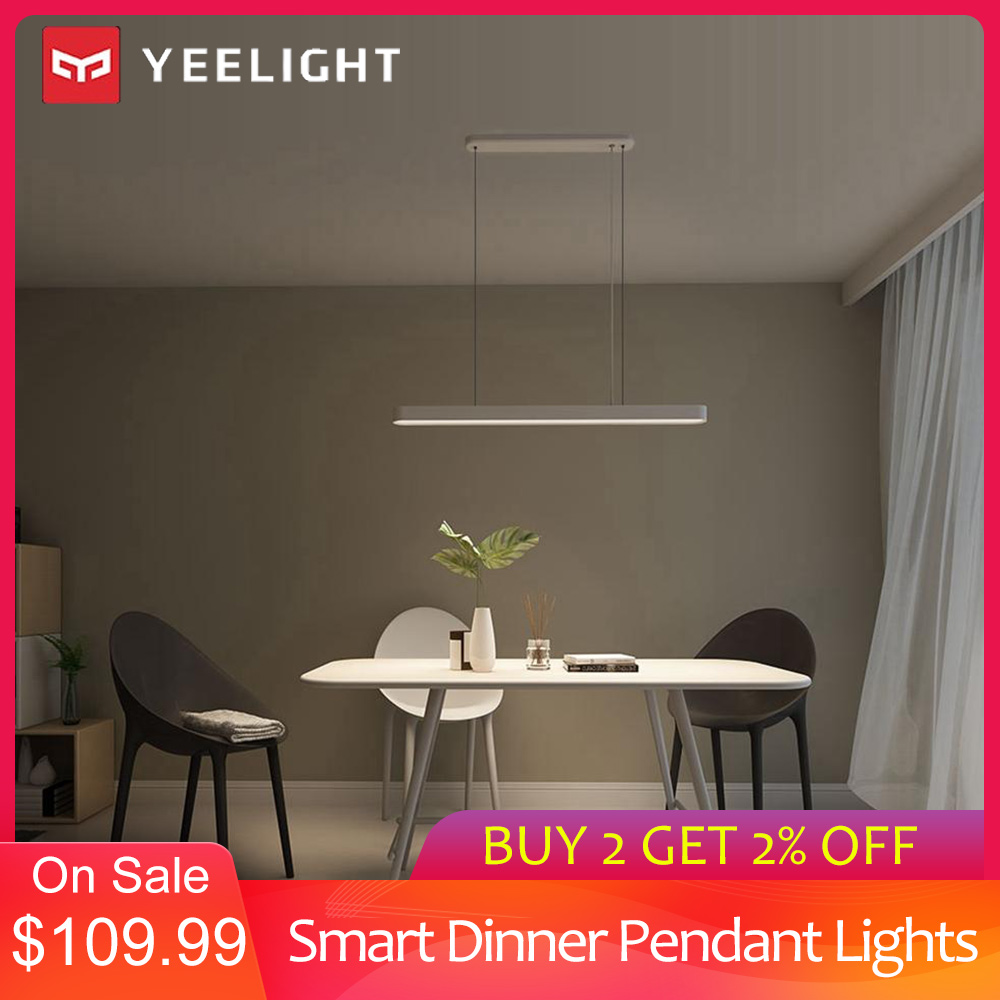 YEELIGHT Yeelight YLDL01YL Meteorite LED Smart Dinner Pendant Lights Colorful Atmosphere Light Adjustable Brightness Ra95 1800lm