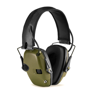 Image 2 - Foldable green electronic shooting earmuffs outdoor sports anti noise sound amplification hearing protection headphones