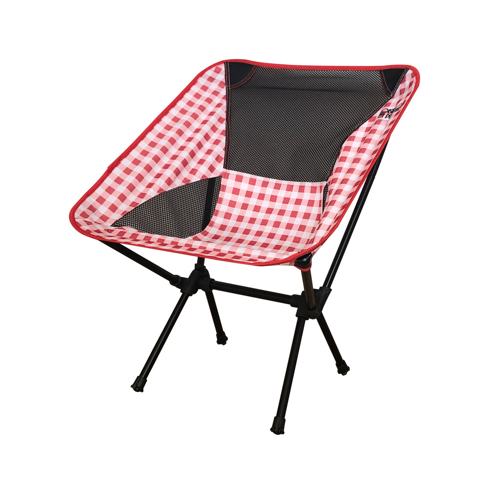 Yang Guang Casual Outdoor Beach Chair Ultra-Light Club Chairs Portable Fishing Chair Foldable Moon Chair Camping Stool Gift