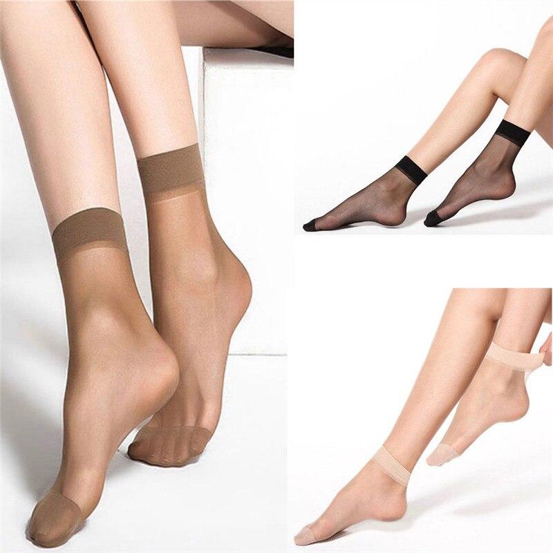 10 пар в комплекте; Для женщин носки нейлоновые эластичные короткие ботильоны чистого шелка ботильоны прозрачная стильная женская обувь Bling ...