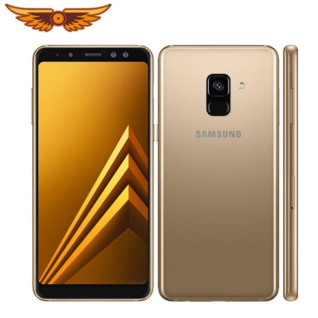 A530F Original Samsung Galaxy A8 (2018) Duos 5.6Inches Octa Core 4GB RAM 32GB ROM LTE 4G 16MP Camera Dual SIM Unlocked Cellphone 1