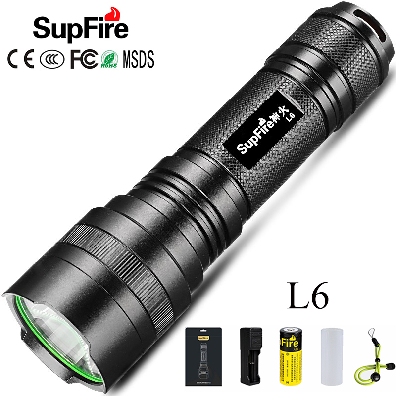 Most Powerful LED Flashlight EDC Torch L6 SST40 Tactical Flash Light 26650 Rechargeable Linterna LED 3000lm Lanterna Hand Light