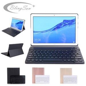 Bluetooth клавиатура чехол для huawei Mediapad T5 10 10,1 AGS2-L09 AGS2-W09 AGS2-L03 Чехол клавиатура для huawei T5 10 кожаный чехол