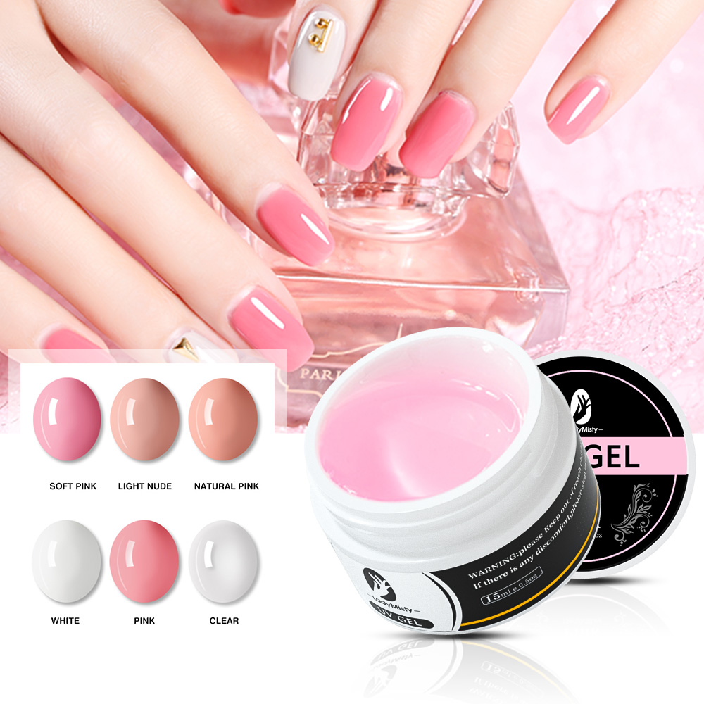 15 мл быстрое строительство наращивание ногтей гель толстый акриловый УФ конструирующий гель для наращивания ногтей прозрачный розовый бел...