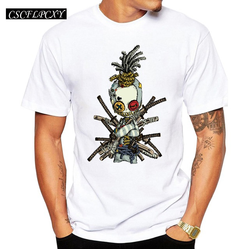 2019 Rag Doll Samurai Men T-Shirt Short Sleeve Casual T Shirt Hipster Vintage Skull Printed Tee O-Neck Summer Tops