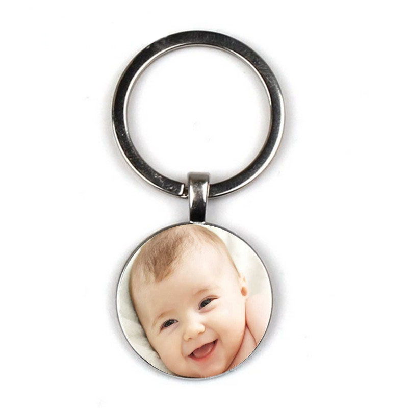 Handmade Personality Photo Family Keychain Photo Baby Child Dad Mom Brother Sister Grandparents Family Portrait Private Custom