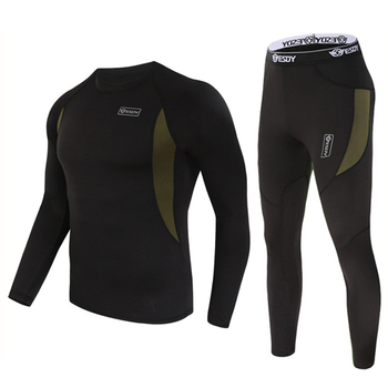 ESDY Winter Thermal Underwear Sets Quick Dry Sport Suit Running T-shirt Set Breathable Tight Long Tops & Pants Moto Jacket+Pants 7