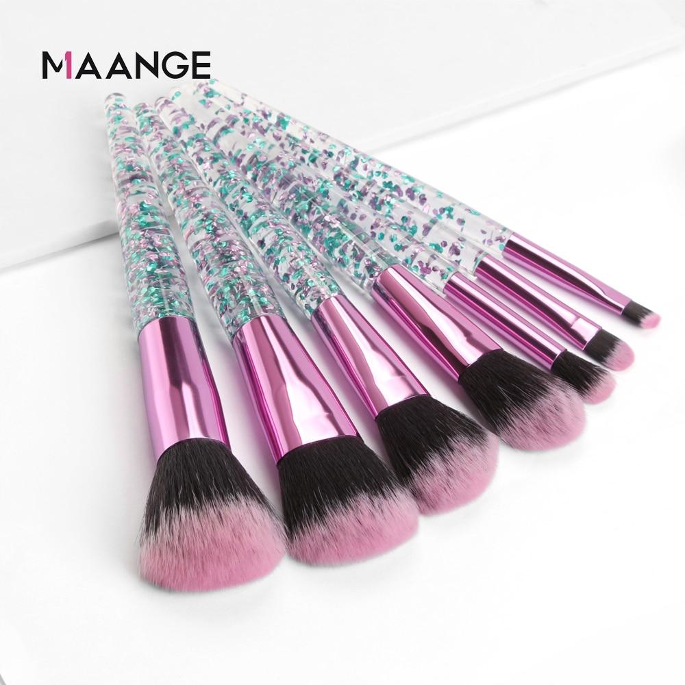 4-20Pcs Colorful Makeup Brushes Set Crystal Handle Foundation Powder Concealer Eyeshadow Beauty Make Up Brush Pincel Maquiagem