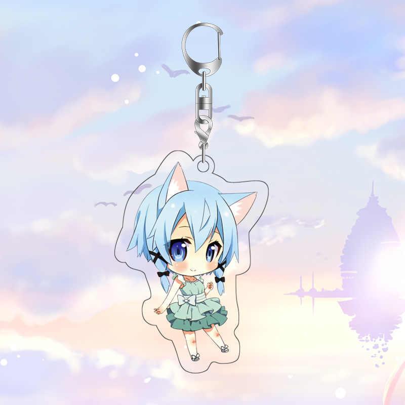 Anime Sword Art Online Tas Liontin Gantungan Kunci Fashion Jepang Kartun Gambar Sao Harjo Mobil Gantungan Kunci Gantungan Kunci