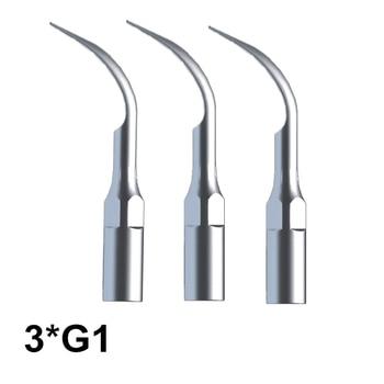 Dental Tools 3 Pcs G2 Dental Cleaning Tips For EMS Woodpecker Ultrasonic Scaler Handpiece Scaler Dental Ultrasonic Scaler Tools new dental ultrasonic scaler piezo handpiece for compatible with ems woodpecker