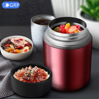 800/1000ml Stainless Steel Lunch Box Insulation Soup Pot Stew Kettle Bowl Vacuum Food Jar Portable Container Students Lunch box