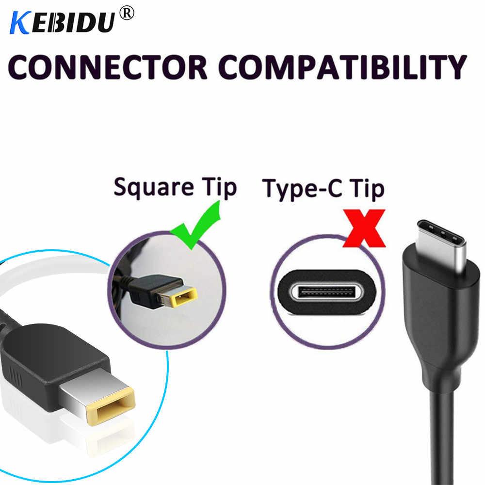Kebidu 7,9mm X 5,5mm Cable adaptador convertidor de potencia interfaz femenina para ordenador portátil Lenovo ThinkPad Ultrabook X230S S3 S5 x1 E431