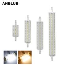 ANBLUB Dimmable 전구 R7S LED 옥수수 2835 SMD 78mm 118mm 135mm 189mm 빛 5W 10W 15W 20W 할로겐 램프 85 265V 투광 램프를 대체하십시오