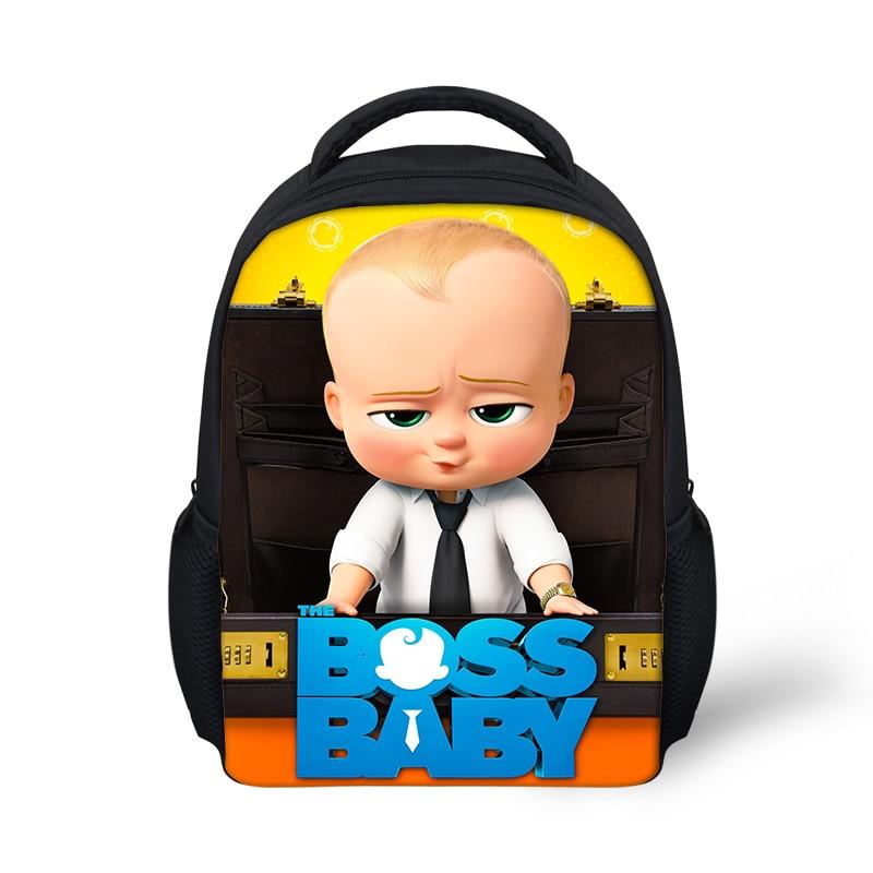 Us 13 99 30 Off Cartoon Boss Baby Mini 12 Inch School Backpack For Baby Boys Girls Kindergarten Bookbag Cute Satchel Mochila In School Bags From